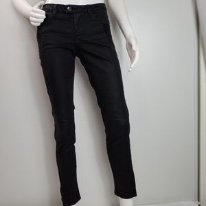 Zara Basic Jeans Size 6 Ankle Skinny Black Pockets